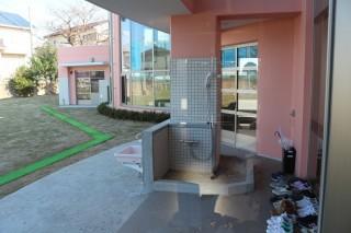 双葉保育園 足洗い場・手洗い場